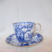 Royal Crown Derby Demitasse Cup & Saucer--Chinoiserie Pattern