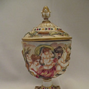 REDUCED Wonderful 1900-1910 Capodimonte Style Lidded Urn