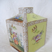 Dresden Grossbaum & Sohne Porcelain Antique Tea Caddy