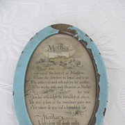 SOLD Shabby Wonderful Framed &quot;Mother&quot; Poem