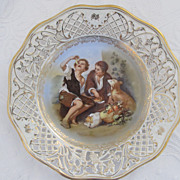 Schumann Dresden Hand Painted Reticulated Plate