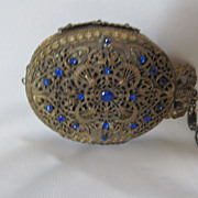SOLD Gorgeous Jeweled Filigree Antique Coin Purse Chatelaine