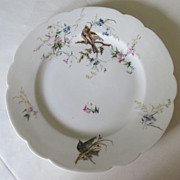 "Exquisite 9.5"" Limoges Dinner Plate with Birds"