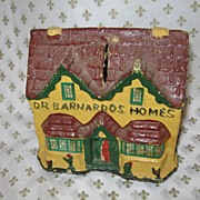 SOLD ON SALE NOW!!  Dr. Barnardo's Homes Papier Mache Collection Box c.1880-90