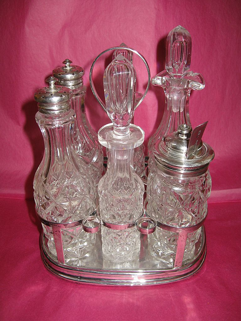 English Sterling Silver Condiment Set ca. late 1700s to mid 1800s