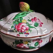 18th-Century French Faience: Large Tureen by Les Islettes/Strasbourg