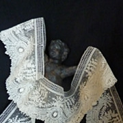 Exquisite flounce UNUSED  Brussels point de gaze needle lace + 5 yards