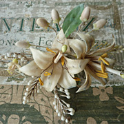 Delicious Faded grandeur bride's wax wedding crown tiara LILY