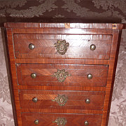 Elegant antique French miniature commode chest of drawers doll accessory