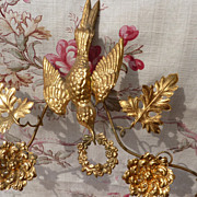 Faded grandeur  French ormolu boudoir wedding cushion display stand