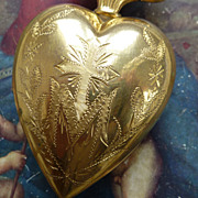 SALE PENDING Gleaming  antique French religious flaming sacred heart ex voto reliquary