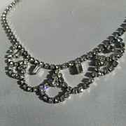 SALE Vintage Rhinestone Necklace