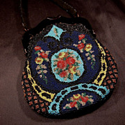 SALE 1930's Colorful Glass Beaded Purse