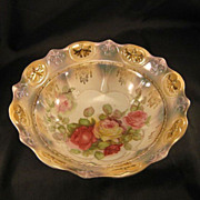 Early 1900's Opalescent Rose Bowl