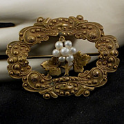 Antique Victorian Jeweled Brooch
