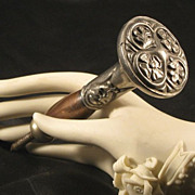 SALE Victorian  Pewter Umbrella Handle