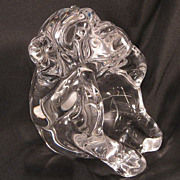 Hand Blown Crystal Art Glass Monkey