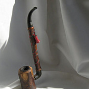 SALE Cherry Wood Churchwarden Tobacco Pipe
