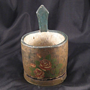 SALE Primitive Folk Art Salt Box