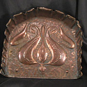 SALE Arts & Crafts Copper Crumber & Brush