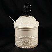"SALE Signed Ceramic Condiment Jar ""Georges Briard"""