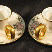 Limoge Haviland Porcelain Candle Holders