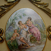 SALE French Limoge Framed Plaques