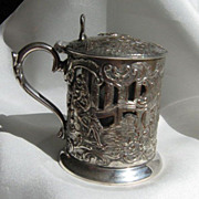 SALE Cross London Silver-plate Condiment Jar