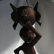 African Wood Carving **  Walking Woman