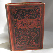 SALE Antique Embossed  Book &quot; Writings of Wilhelm Hauff's Antique Book