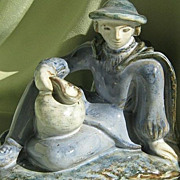 SALE Sculpted Stoneware Figurine   - Scandinavia  Ca. 1950