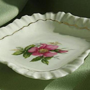 "SALE Royal Adderley  Porcelain ""Prairie Rose"" Pin Dish from England"