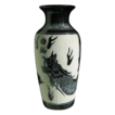 &quot;Sgraffito&quot; Porcelain Vase with Dragon Motif
