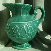 SALE Art Deco Egyptian Revival Jug * SylvaC Art Studio