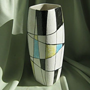 SALE Retro Abstract Art Pottery Vase