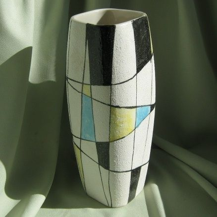 Retro Abstract Art Pottery Vase