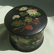 SALE Folk Art Lacquer Wood  Box