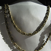 Long Scrolled Link Chain * Brass