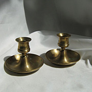 English Brass Candlestick  Holder