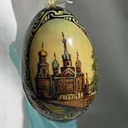 SALE Signed Russian Lacquer Egg
