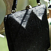 SALE Black Gimp Corde &quot;Bobbie Jerome&quot;   Purse