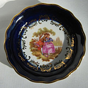 Vintage Limoges Courting Scene Bowl