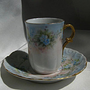 Demitasse Porcelain Tea Cup & Saucer