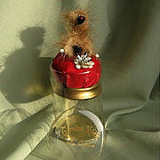 "SALE ""Poodle"" Mink Pin Cushion in Presentation Box"