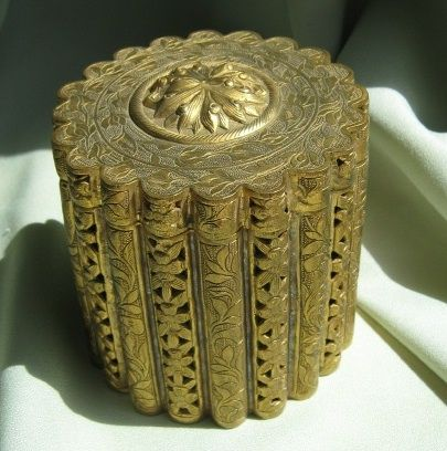 Very Vintage Reticulated Powder Box from China