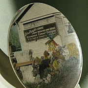 SALE Antique Celluloid Advertising Mirror