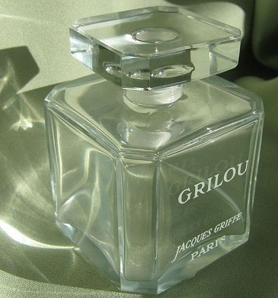 "French Crystal Perfume Bottle ""Grilou"" by Jacques Griffe"