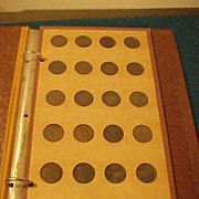 Book of 24 Large, British, Colonial, 2 Cent Pcs & a Few Tokens