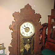 Nice Darker Gilbert 8-Day Striking Mantel Clock w/Alarm