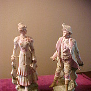 "Nice Pair of German Bisque 10"" Figures"